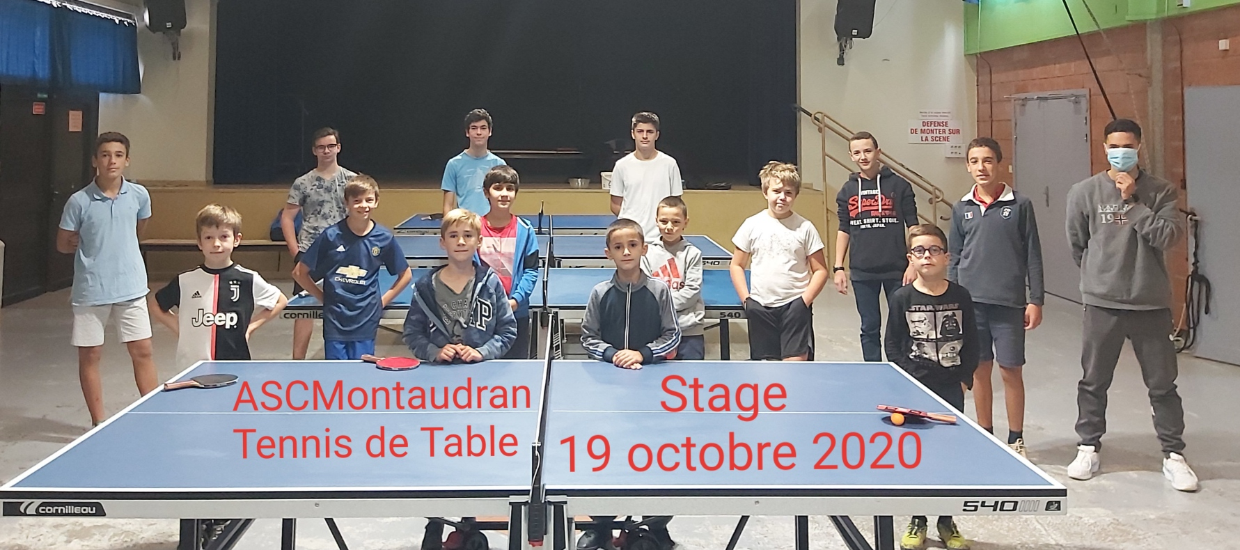 Stage Tennis de Table